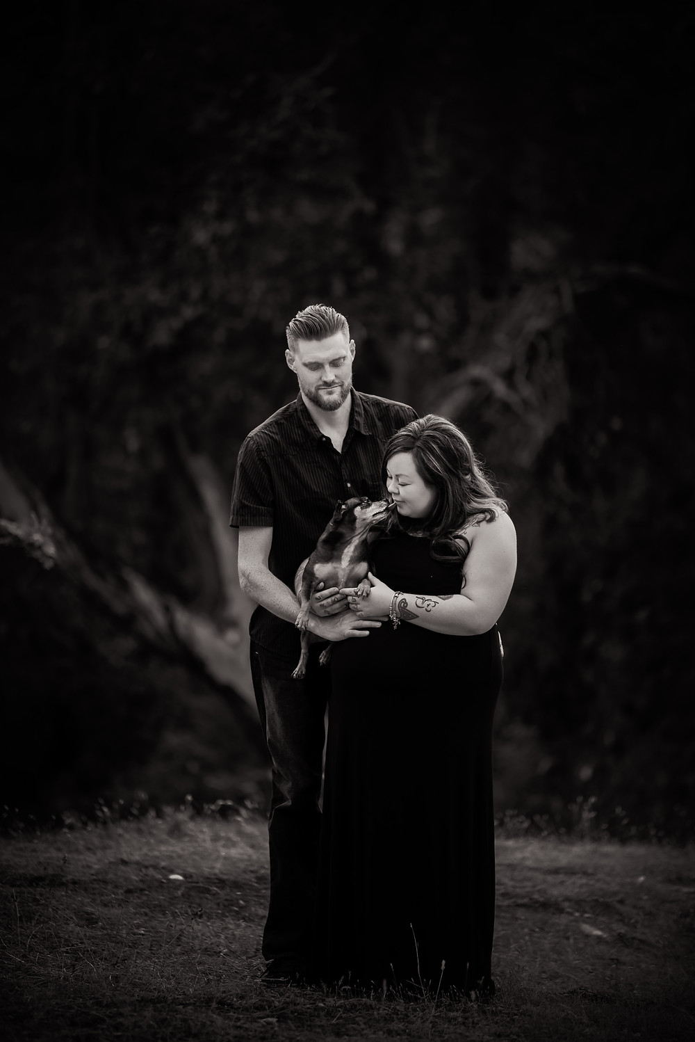Fur baby with baby bump, Maternity photographer Victoria BC, Family photographer, Sidney BC photographer