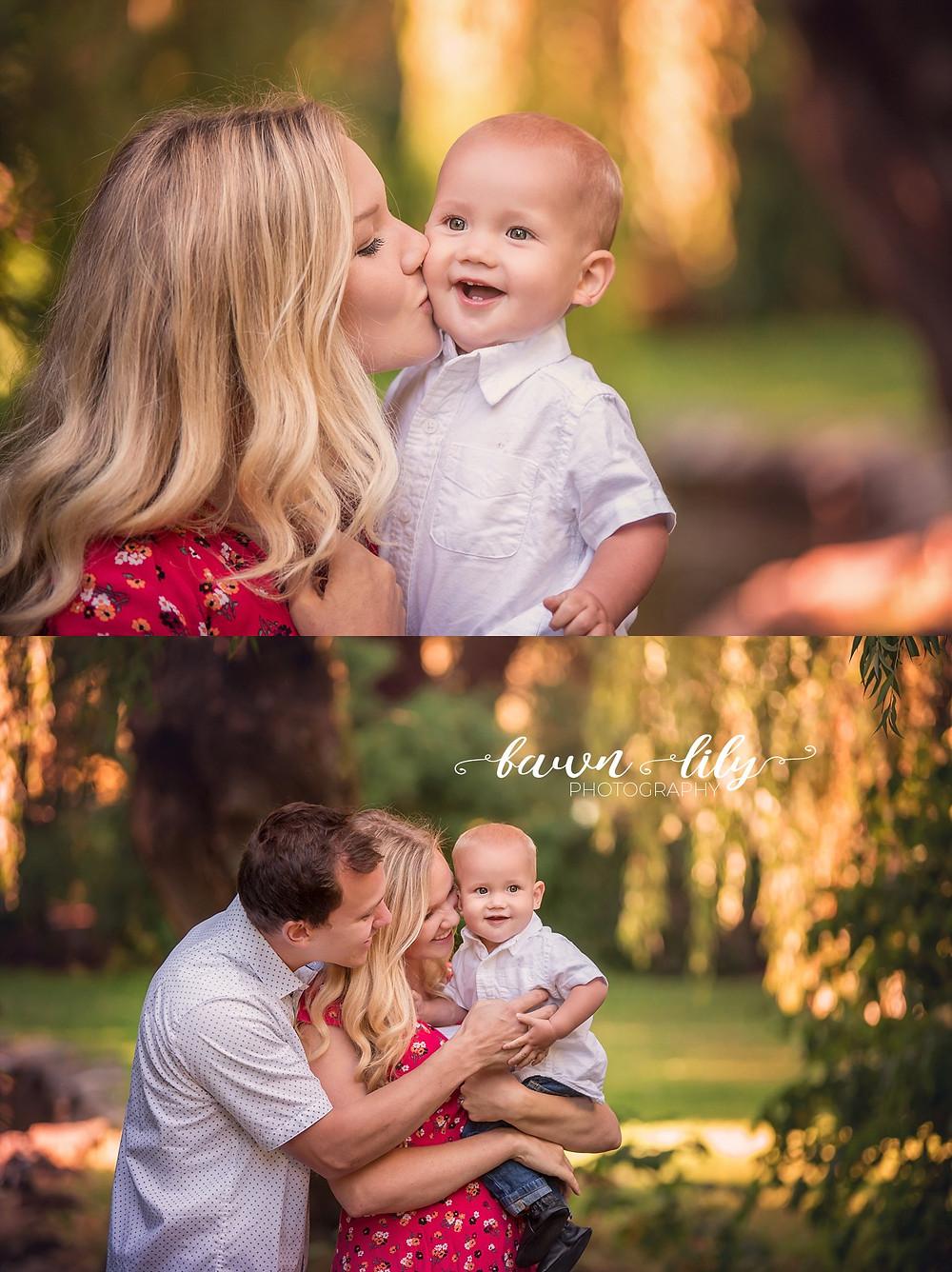 Family photographer, Victoria BC photographer, Sidney BC family photographer, baby kisses, Family pictures