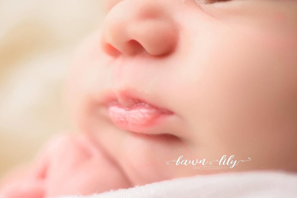 Newborn Lips, Macros, Sidney BC Newborn Photographer