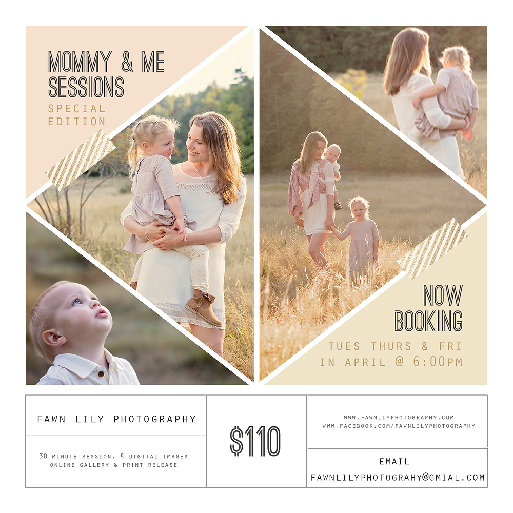 Fawn Lily Photography Mommy and Me Minis in Sidney BC, Sidney BC Family Photographer