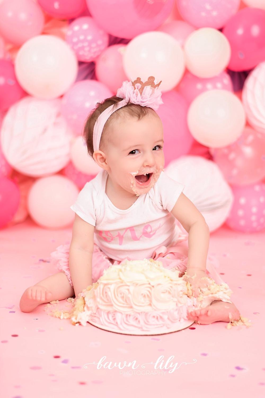 Victoria BC Cake Smash Photographer, 1st birthday, baby girl, Sidney BC Photographer
