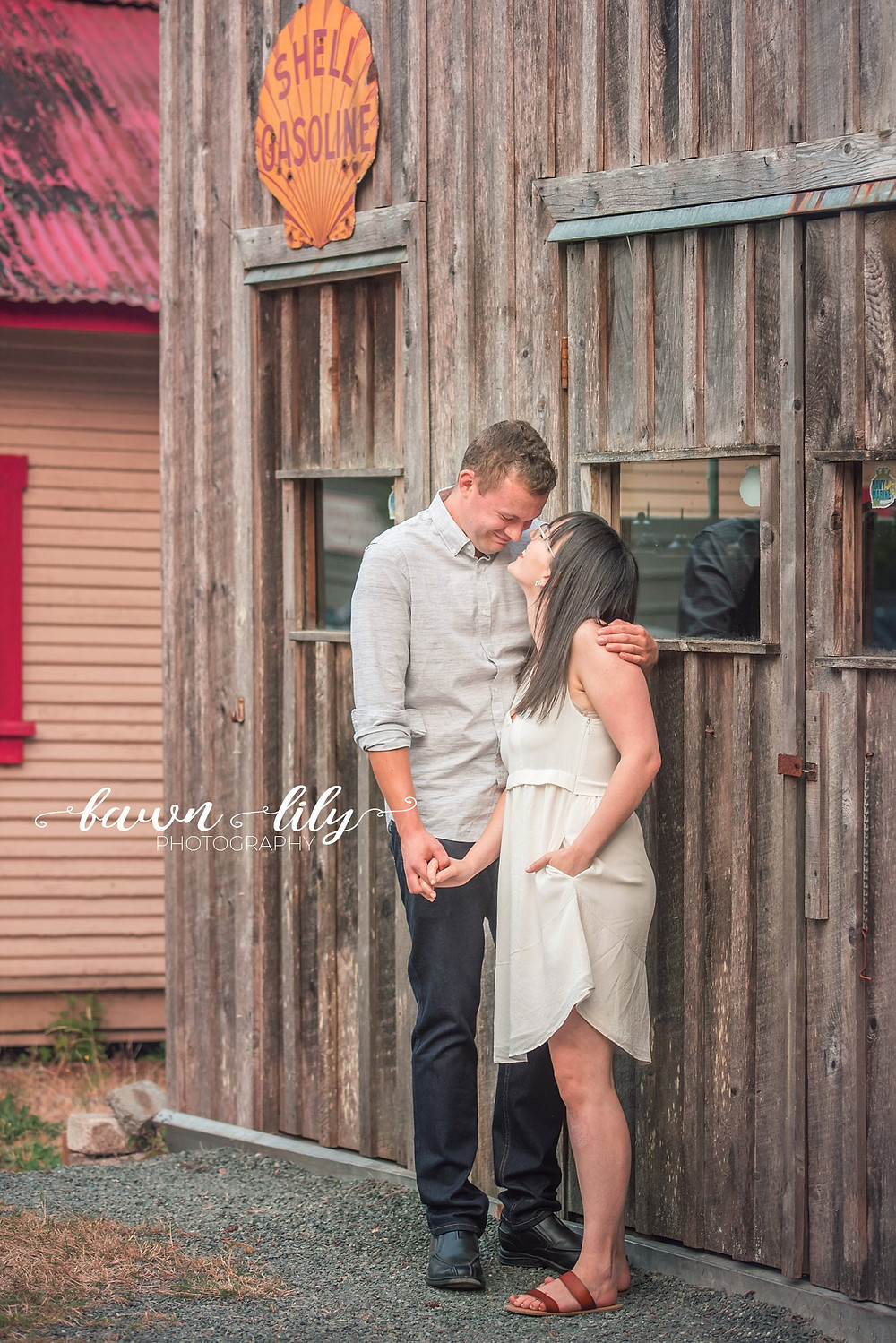Couple Photo at Heritage Acres, Victoria BC couple photographer, Fawn Lily Photography, Sidney BC Family Photographer