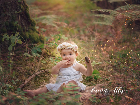 Cake Smashing all over the Forest - Fawn Lily Photography