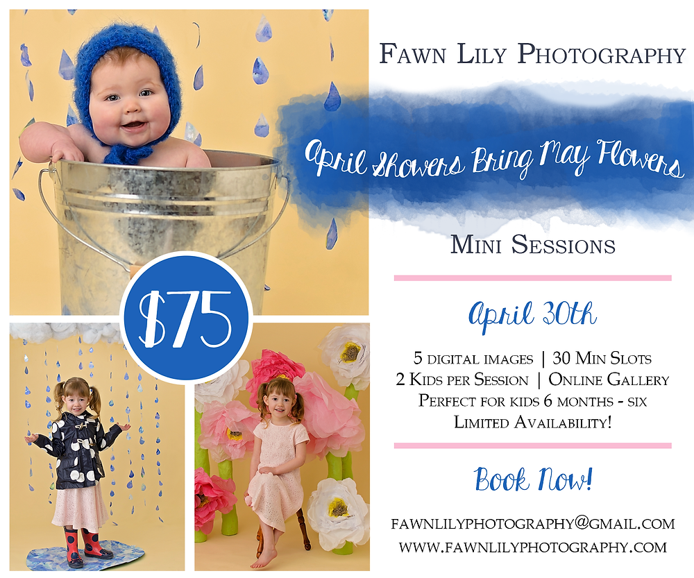 Fawn Lily Photography Sidney BC Children's Photographer, Spring Mini Sessions, April Showers, May Flowers, Baby Mini Sessions on Saanich Peninsula