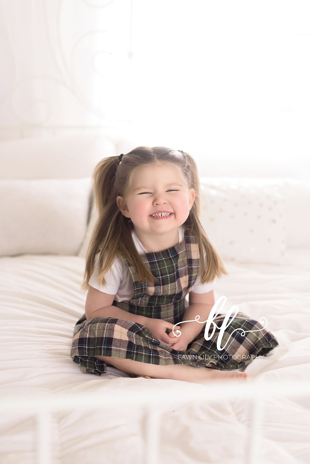 Three year old girl portrait, victoria bc family photographer, family photos in studio, how to plan a wall gallery