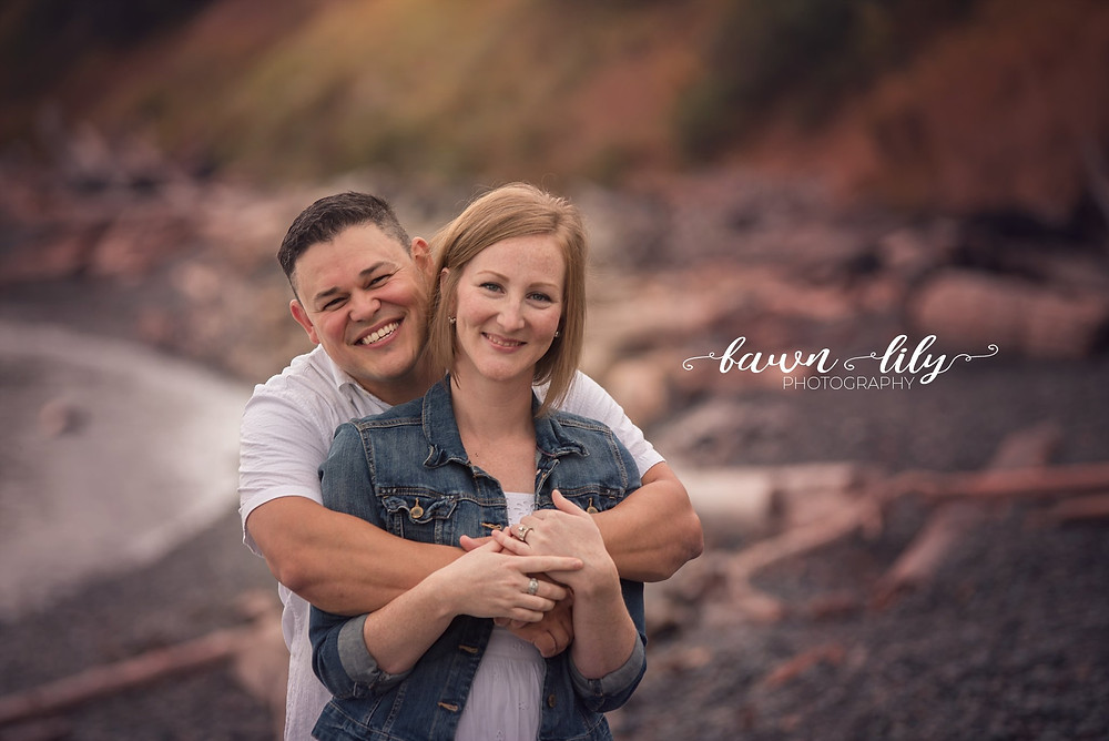 Couple on the beach, Dallas Rd, Victoria BC Family Photographer
