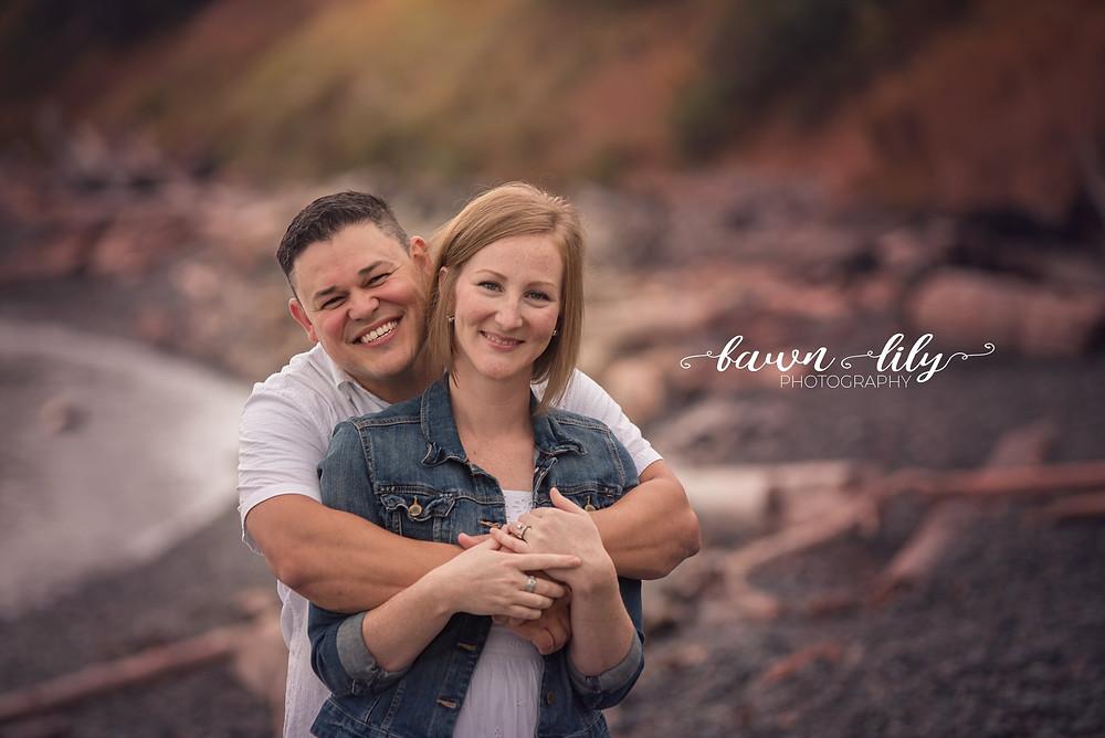 Couple on the beach, Dallas Rd, Victoria BC Family Photographer
