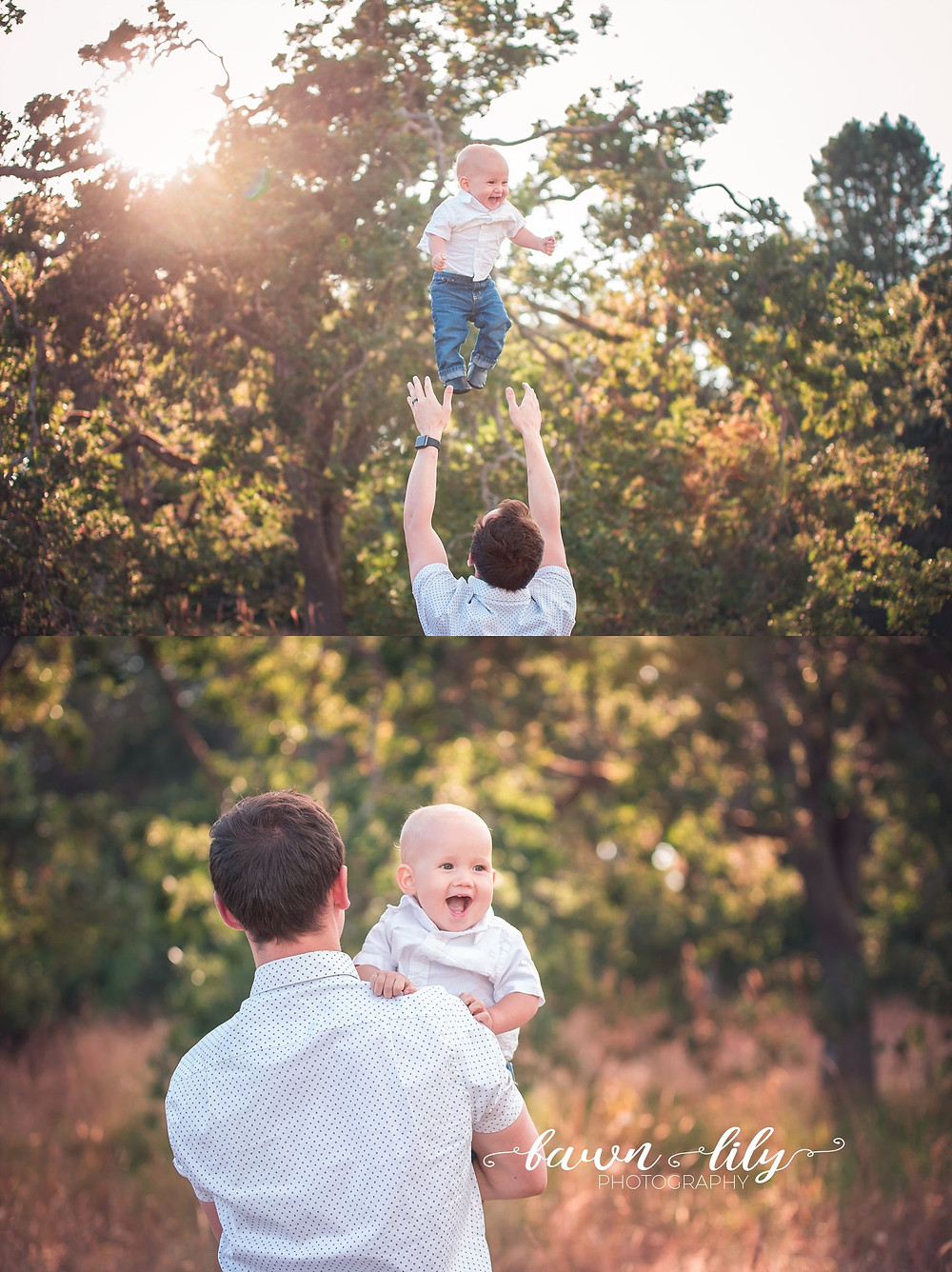 Victoria BC Family Photography, Dad playing with baby, getting dad on board for family photos