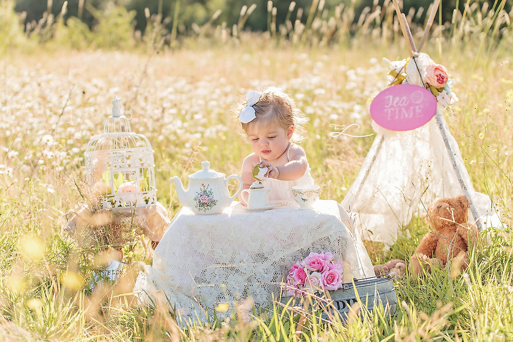 Fawn Lily Photography, 9 month milestone session, baby photographer, Sidney bc photographer, victoria bc photographer, tea party photo shoot