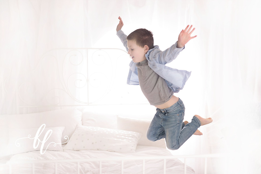 Flying boy, leaping picture, fawn lily photography, victoria bc family photographer