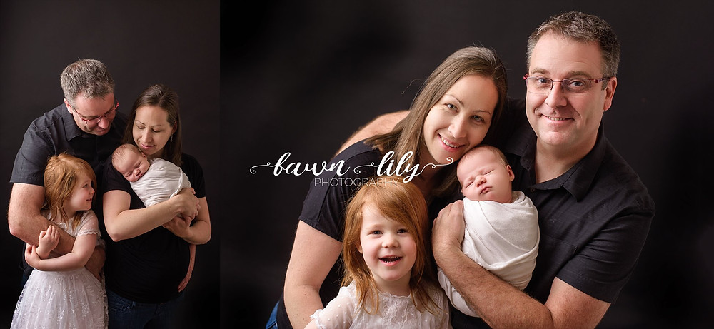 family of four newborn photos, newborn photographer, sidney bc newborn photographer, victoria bc newborn photographer