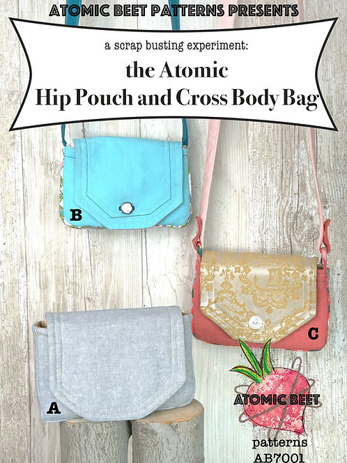 Paper Pattern Atomic Hip Pouch and Cross Body Bag