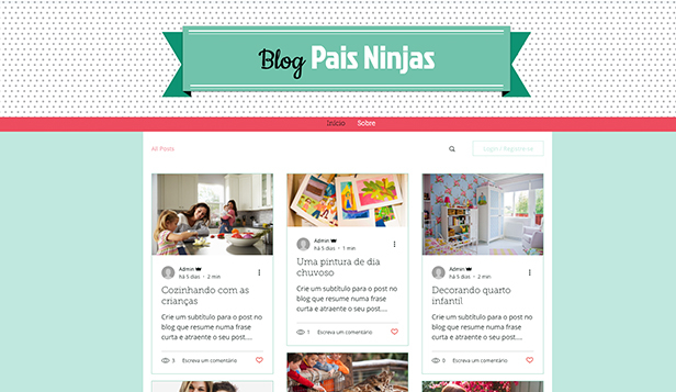Estilo de Vida website templates – Blog de Pais