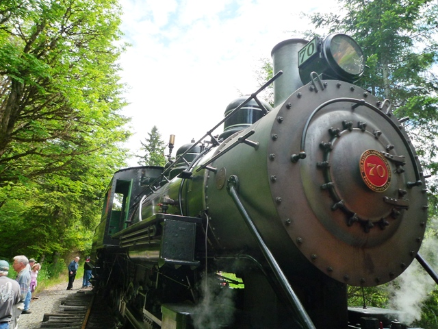 The Mount Rainier Scenic Railroad.