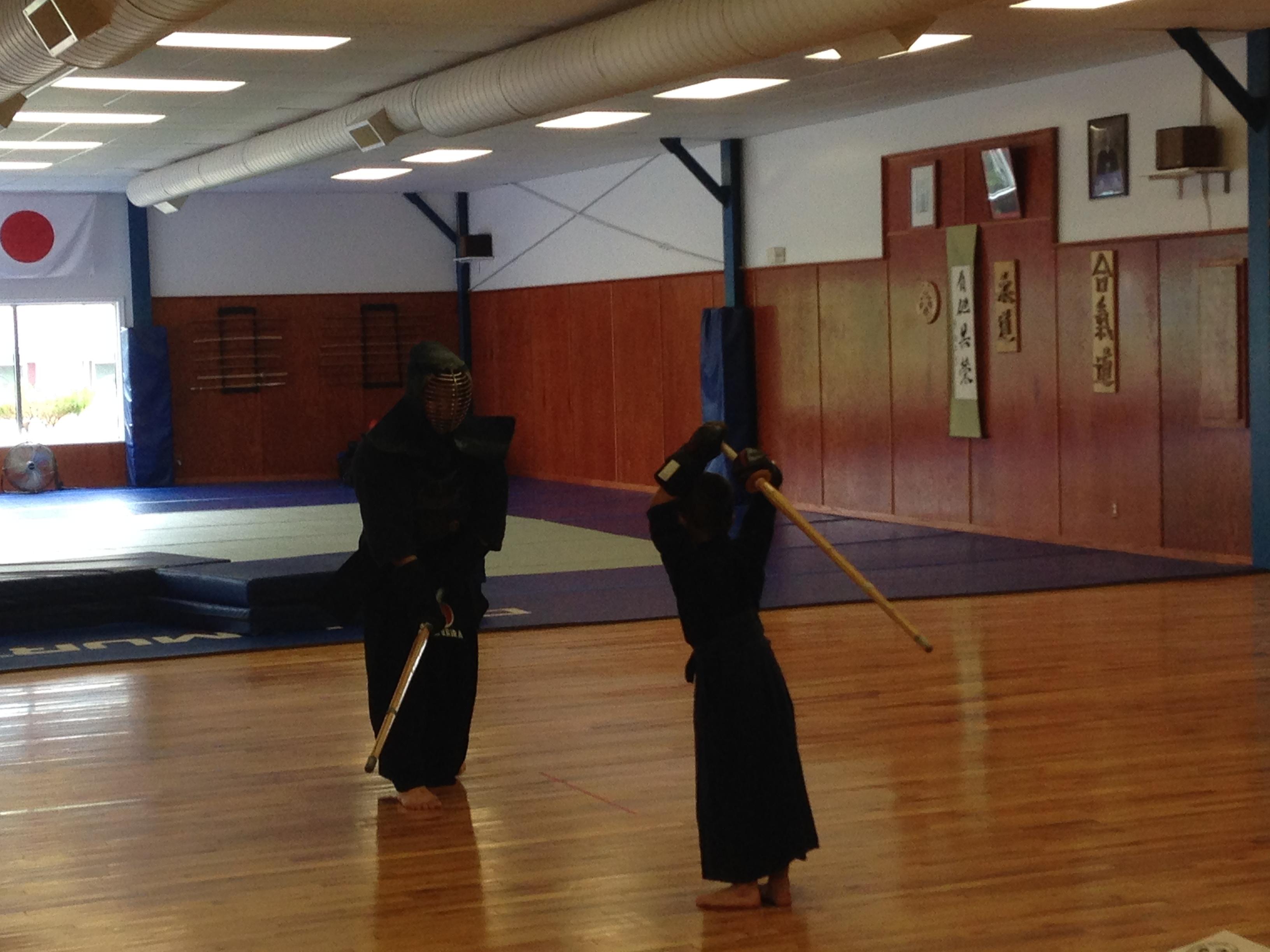 Kendo practice