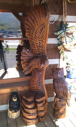 Alonzo Montoya Chainsaw Carved Bird 5.jpg