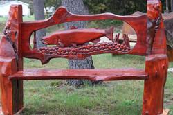 Alonzo Montoya Chainsaw Carved Bench 6.JPG