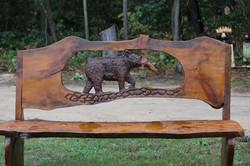 Alonzo Montoya Chainsaw Carved Bench 7.JPG