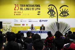 Hugo Coya y Mario Escobar en 23 Feria In