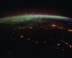 ⓒNASA 国際宇宙ステーションから見たオーロラ