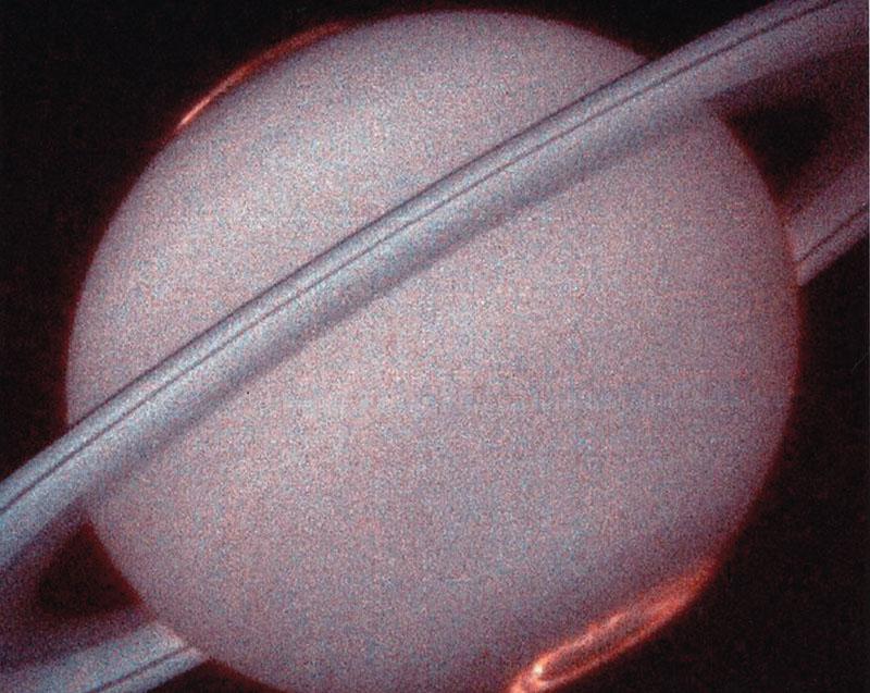 ⓒNASA 土星 水素が光っている