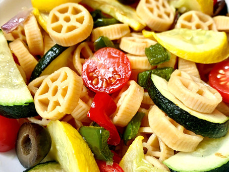 Recipe: Roasted Veggie Pasta Salad (Vegan, Gluten-Free)