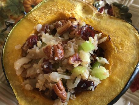 Recipe: Baked Stuffed Acorn Squash (vegan, gluten free)