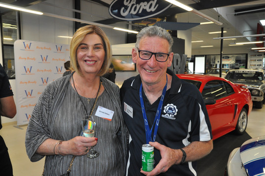 WinA committee member Michelle Sellars and Geelong Museum of Motoring volunteer Lindsay Mole