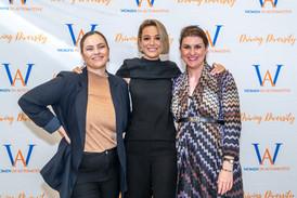 WinA Marketing Coordinator, Isabella Mizzi, Journalist Emma Nortarfrancesco, WinA Manager Dr. Imogen Reid
