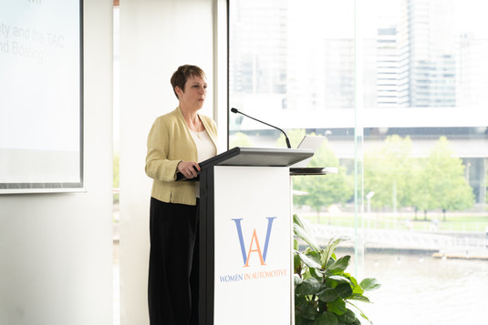 The Hon. Jaala Pulford helping to launch WinA's guidebook