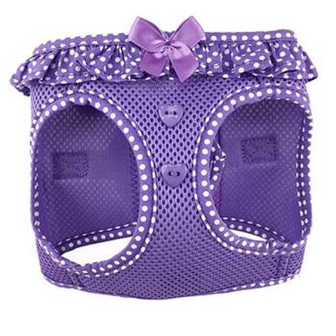 American River Choke Free Harness - Paisley Purple Polka Dot