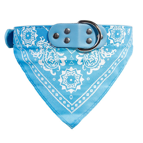 Bandana Dog Collar -Light Blue