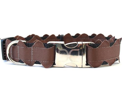 Brick-a-Bark Collar - Brown