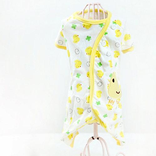 """My Baby"" Yellow Ducky Dog Pajamas"