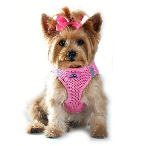 American River Solid Ultra Choke Free Dog Harness - Candy Pink