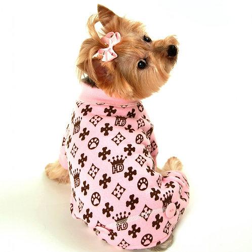 HD Crown Dog Longjohns - Pink