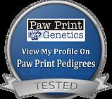 Paw Print Genetics View My Profile Logo.