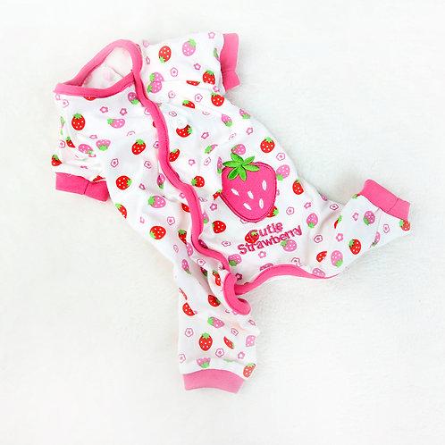 """""""Cutie Strawberry"""" Dog Pajamas"""