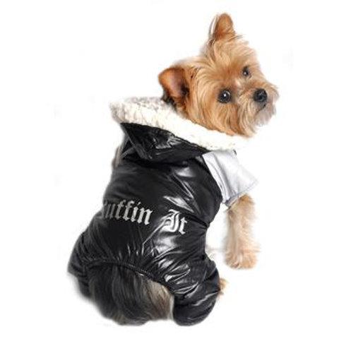 Black & Grey Ruffin It Dog Snowsuit Harness