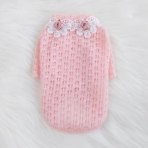 Baby Rose Dog Sweater