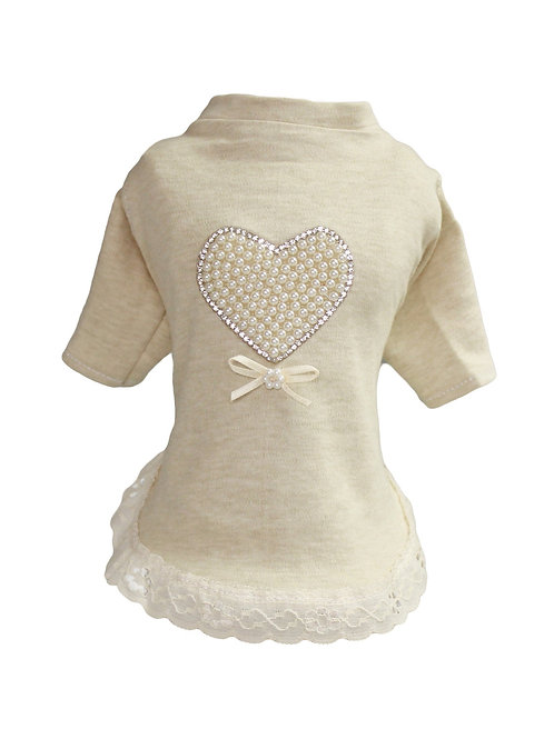 Pearl Heart Baby Dog Dress