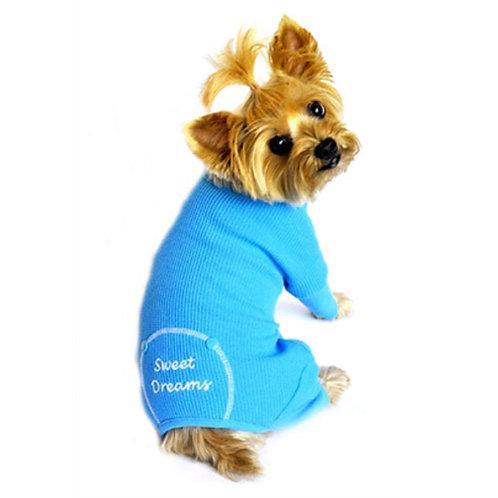 Embroidered Thermal Dog Pajamas