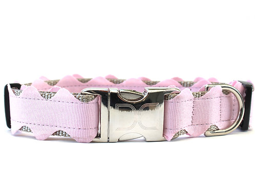 Brick-a-Bark Collar - Light Pink