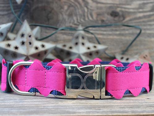 Brick-a-Bark Collar - Hot Pink