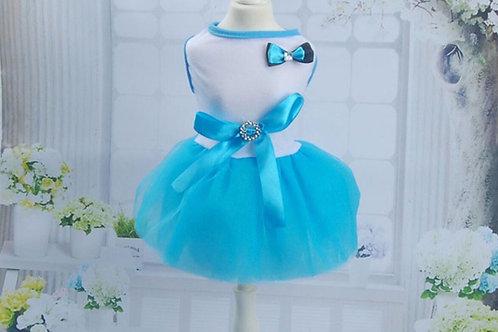 Blue Chiffon Dog Party Dress