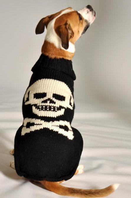Black Skull Wool Sweater