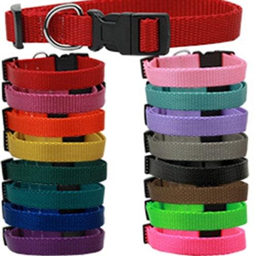Plain Colored Nylon Dog Collars