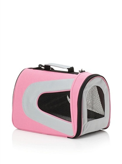 Pink Collapsible Sporty Pet Carrier