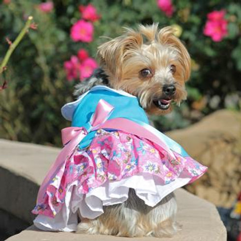 Pink & Blue Floral Dog Dress