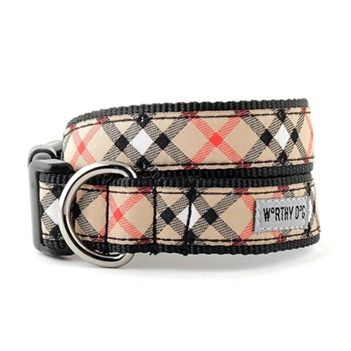 Bias Plaid Tan Collar and Lead Collection